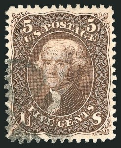 Sale Number 838, Lot Number 240, 1861-66 Issue (Scott 73 to 76)5c Brown (76), 5c Brown (76)