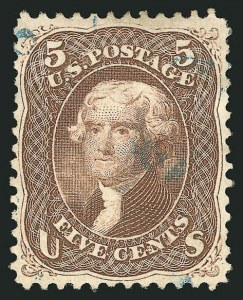 Sale Number 838, Lot Number 241, 1861-66 Issue (Scott 73 to 76)5c Brown (76), 5c Brown (76)