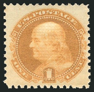 Sale Number 838, Lot Number 285, 1869 Pictorial Issue (1c - 2c)1c Buff (112). Mint N.H, 1c Buff (112). Mint N.H
