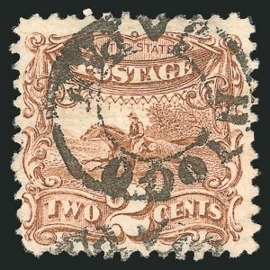 Sale Number 838, Lot Number 291, 1869 Pictorial Issue (1c - 2c)2c Brown (113), 2c Brown (113)