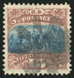 Sale Number 838, Lot Number 315, 1869 Pictorial Issue (15c)15c Brown & Blue, Ty. I (118), 15c Brown & Blue, Ty. I (118)