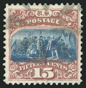 Sale Number 838, Lot Number 316, 1869 Pictorial Issue (15c)15c Brown & Blue, Ty. I (118), 15c Brown & Blue, Ty. I (118)