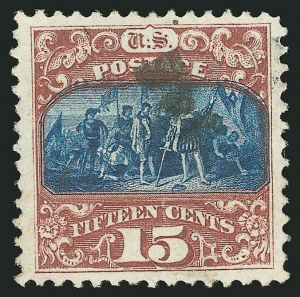Sale Number 838, Lot Number 321, 1869 Pictorial Issue (15c)15c Brown & Blue, Ty. II (119), 15c Brown & Blue, Ty. II (119)