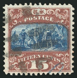 Sale Number 838, Lot Number 323, 1869 Pictorial Issue (15c)15c Brown & Blue, Ty. II (119), 15c Brown & Blue, Ty. II (119)