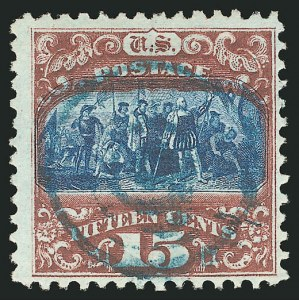 Sale Number 838, Lot Number 326, 1869 Pictorial Issue (15c)15c Brown & Blue, Ty. II (119), 15c Brown & Blue, Ty. II (119)