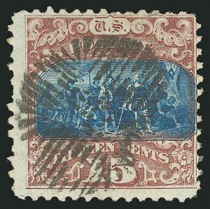 Sale Number 838, Lot Number 327, 1869 Pictorial Issue (15c)15c Brown & Blue, Ty. II (119), 15c Brown & Blue, Ty. II (119)