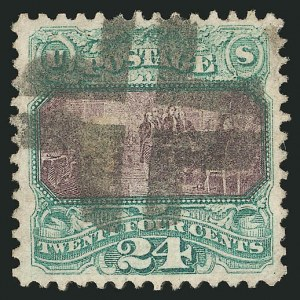 Sale Number 838, Lot Number 330, 1869 Pictorial Issue (24c to 30c)24c Green & Violet (120), 24c Green & Violet (120)