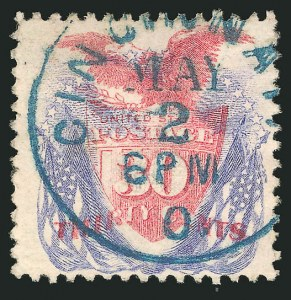 Sale Number 838, Lot Number 334, 1869 Pictorial Issue (24c to 30c)30c Ultramarine & Carmine (121), 30c Ultramarine & Carmine (121)