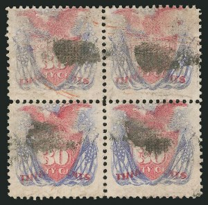 Sale Number 838, Lot Number 338, 1869 Pictorial Issue (24c to 30c)30c Ultramarine & Carmine (121), 30c Ultramarine & Carmine (121)