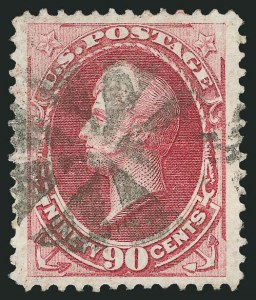 Sale Number 838, Lot Number 391, 1870-88 Bank Note Issues (Scott 146 - 155)90c Carmine (155), 90c Carmine (155)