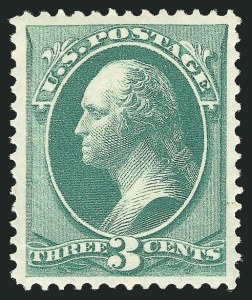 Sale Number 838, Lot Number 402, 1870-88 Bank Note Issues (Scott 156 - 166)3c Green (158), 3c Green (158)
