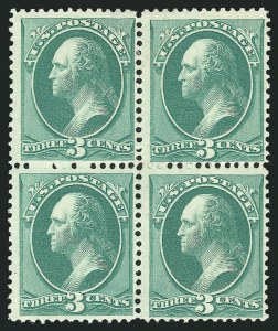 Sale Number 838, Lot Number 407, 1870-88 Bank Note Issues (Scott 156 - 166)3c Green (158), 3c Green (158)