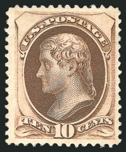 Sale Number 838, Lot Number 412, 1870-88 Bank Note Issues (Scott 156 - 166)10c Brown (161), 10c Brown (161)