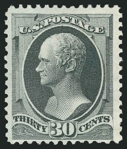 Sale Number 838, Lot Number 416, 1870-88 Bank Note Issues (Scott 156 - 166)30c Gray Black (165), 30c Gray Black (165)
