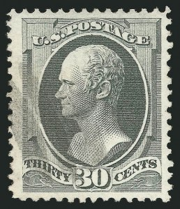 Sale Number 838, Lot Number 417, 1870-88 Bank Note Issues (Scott 156 - 166)30c Gray Black (165), 30c Gray Black (165)