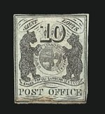 Sale Number 838, Lot Number 43, Postmasters ProvisionalsSt. Louis Mo., 10c Black on Gray Lilac (11X5), St. Louis Mo., 10c Black on Gray Lilac (11X5)