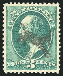 Sale Number 838, Lot Number 432, 1870-88 Bank Note Issues (Scott 178 - 190)3c Green (184), 3c Green (184)