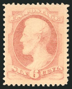 Sale Number 838, Lot Number 436, 1870-88 Bank Note Issues (Scott 178 - 190)6c Pink (186), 6c Pink (186)