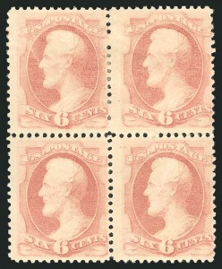 Sale Number 838, Lot Number 437, 1870-88 Bank Note Issues (Scott 178 - 190)6c Pink (186), 6c Pink (186)