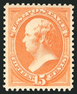 Sale Number 838, Lot Number 439, 1870-88 Bank Note Issues (Scott 178 - 190)15c Red Orange (189). Mint N.H, 15c Red Orange (189). Mint N.H