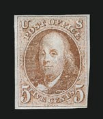 Sale Number 838, Lot Number 44, 5c 1847 Issue5c Red Brown (1), 5c Red Brown (1)