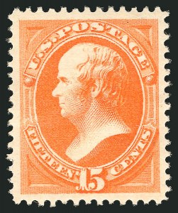 Sale Number 838, Lot Number 440, 1870-88 Bank Note Issues (Scott 178 - 190)15c Red Orange (189), 15c Red Orange (189)