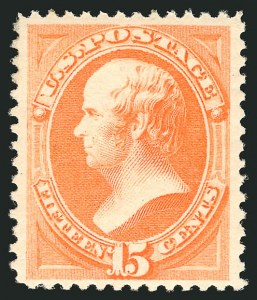Sale Number 838, Lot Number 441, 1870-88 Bank Note Issues (Scott 178 - 190)15c Red Orange (189), 15c Red Orange (189)