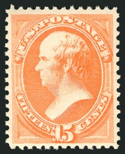 Sale Number 838, Lot Number 442, 1870-88 Bank Note Issues (Scott 178 - 190)15c Red Orange (189), 15c Red Orange (189)