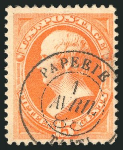 Sale Number 838, Lot Number 443, 1870-88 Bank Note Issues (Scott 178 - 190)15c Red Orange (189), 15c Red Orange (189)