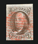 Sale Number 838, Lot Number 46, 5c 1847 Issue5c Red Brown (1), 5c Red Brown (1)