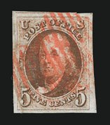 Sale Number 838, Lot Number 48, 5c 1847 Issue5c Red Brown (1), 5c Red Brown (1)