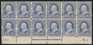 Sale Number 838, Lot Number 499, 1890 Small Bank Note Issue1c Dull Blue (219), 1c Dull Blue (219)
