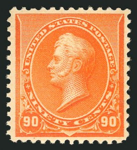Sale Number 838, Lot Number 514, 1890 Small Bank Note Issue90c Orange (229), 90c Orange (229)