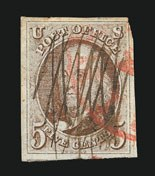 Sale Number 838, Lot Number 53, 5c 1847 Issue5c Red Brown (1), 5c Red Brown (1)