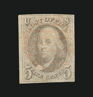 Sale Number 838, Lot Number 54, 5c 1847 Issue5c Brown (1a), 5c Brown (1a)
