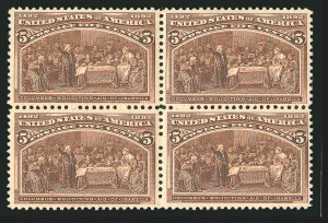 Sale Number 838, Lot Number 577, 1893 Columbian Issue Blocks5c Columbian (234), 5c Columbian (234)