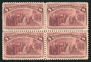 Sale Number 838, Lot Number 579, 1893 Columbian Issue Blocks8c Columbian (236), 8c Columbian (236)