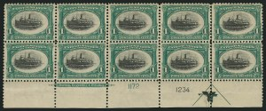 Sale Number 838, Lot Number 660, Pan-American Issue, including inverts1c Pan-American (294), 1c Pan-American (294)