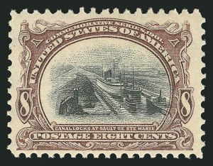 Sale Number 838, Lot Number 673, Pan-American Issue, including inverts8c Pan-American (298), 8c Pan-American (298)
