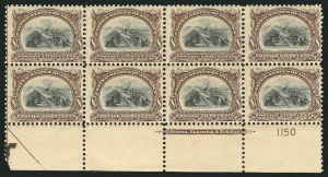 Sale Number 838, Lot Number 674, Pan-American Issue, including inverts8c Pan-American (298), 8c Pan-American (298)