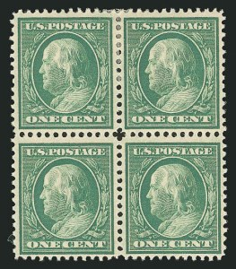 Sale Number 838, Lot Number 729, Washington-Franklin Issues (Bluish Papers)1c Green, Bluish (357), 1c Green, Bluish (357)