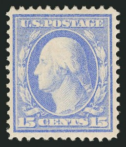 Sale Number 838, Lot Number 734, Washington-Franklin Issues (Bluish Papers)15c Pale Ultramarine, Bluish (366), 15c Pale Ultramarine, Bluish (366)