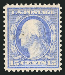 Sale Number 838, Lot Number 735, Washington-Franklin Issues (Bluish Papers)15c Pale Ultramarine, Bluish (366), 15c Pale Ultramarine, Bluish (366)