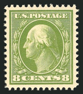 Sale Number 838, Lot Number 740, Washington-Franklin Issues (Scott 376 to 396)8c Olive Green (380), 8c Olive Green (380)