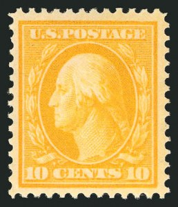 Sale Number 838, Lot Number 741, Washington-Franklin Issues (Scott 376 to 396)10c Yellow (381), 10c Yellow (381)