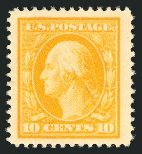 Sale Number 838, Lot Number 742, Washington-Franklin Issues (Scott 376 to 396)10c Yellow (381), 10c Yellow (381)
