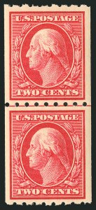 Sale Number 838, Lot Number 745, Washington-Franklin Issues (Scott 376 to 396)2c Carmine, Coil (391), 2c Carmine, Coil (391)