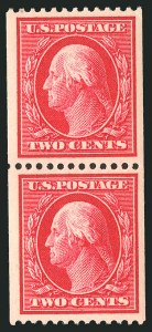Sale Number 838, Lot Number 747, Washington-Franklin Issues (Scott 376 to 396)2c Carmine, Coil (386), 2c Carmine, Coil (386)