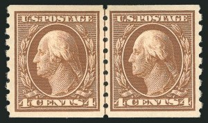 Sale Number 838, Lot Number 751, Washington-Franklin Issues (Scott 376 to 396)4c Brown, Coil (395), 4c Brown, Coil (395)