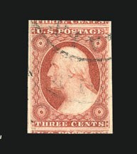 Sale Number 838, Lot Number 86, 3c 1851 Issue3c Dull Red (11), 3c Dull Red (11)